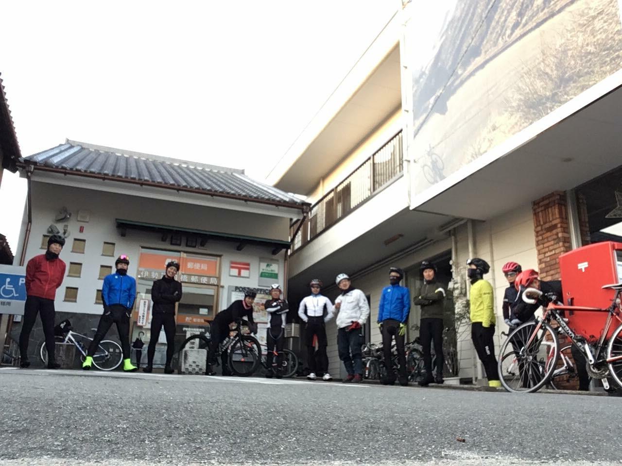 朝一は2月の初心者サイクリング!