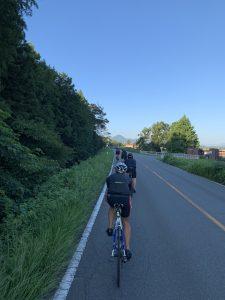 朝一は9月のお山サイクリング!ですが、、、
